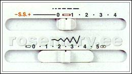 Tavaõmbluste sujuv piste pikkuse ja laiuse reguleerimine. NB! Venivõmbluste piste pikkust muuta ei saa.
