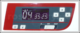 Innovatiivne LCD-näidik võimaldab kiiresti kuvada valitud pistet ja piste seadeid. LCD-näidik annab ka kasulikku teavet presstalla tüübi, piste pikkuse ja laiuse kohta. Automaatse lukustuspiste nupp võimaldab õmmelda lukustuspistet õmbluse alguses ja lõpus. Nõela ülemise/alumise asendi nupp.
