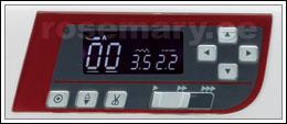 Innovatiivne LCD-näidik võimaldab kiiresti kuvada valitud pistet ja piste seadeid. LCD-näidik annab ka kasulikku teavet presstalla tüübi, piste pikkuse ja laiuse kohta. Automaatse lukustuspiste nupp võimaldab õmmelda lukustuspistet õmbluse alguses ja lõpus. Nõela ülemise/alumise asendi nupp. Niidilõikuse nupp.