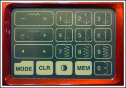 Puutetundlik juhtpaneel. 10 otsevaliku nuppu võimaldavad kiiresti seadistada valitud pisteid ning piste pikkust ja laiust.