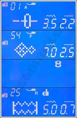 Innovatiivne LCD-näidik võimaldab kiiresti kuvada valitud pistet ja piste seadeid. LCD-näidik annab ka kasulikku teavet presstalla tüübi, piste pikkuse ja laiuse kohta.